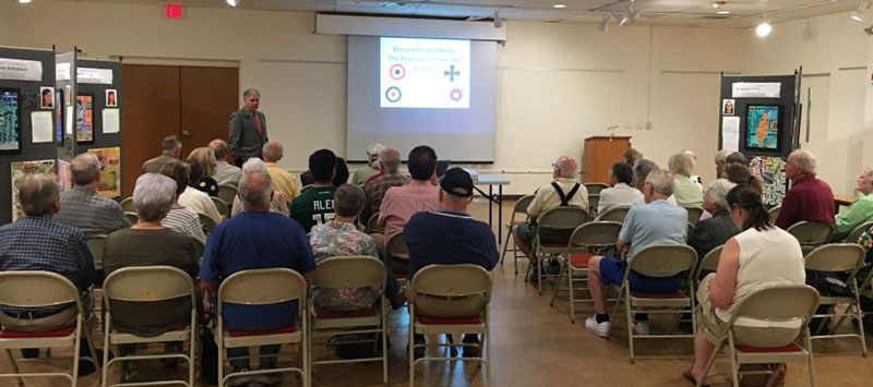 The Taber Museum hosted William E. Fischer, Jr. (U.S. Air Force, retired) at a Society Program on September 16, 2018.