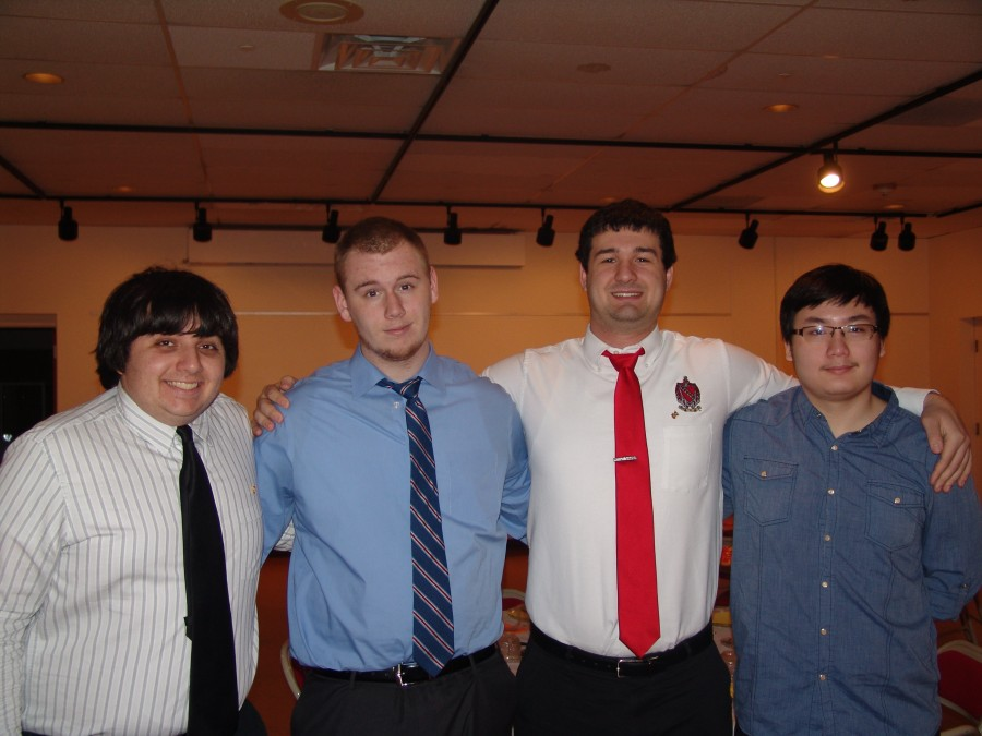 Members of Tau Kappa Epsilon fraternity of Lycoming College