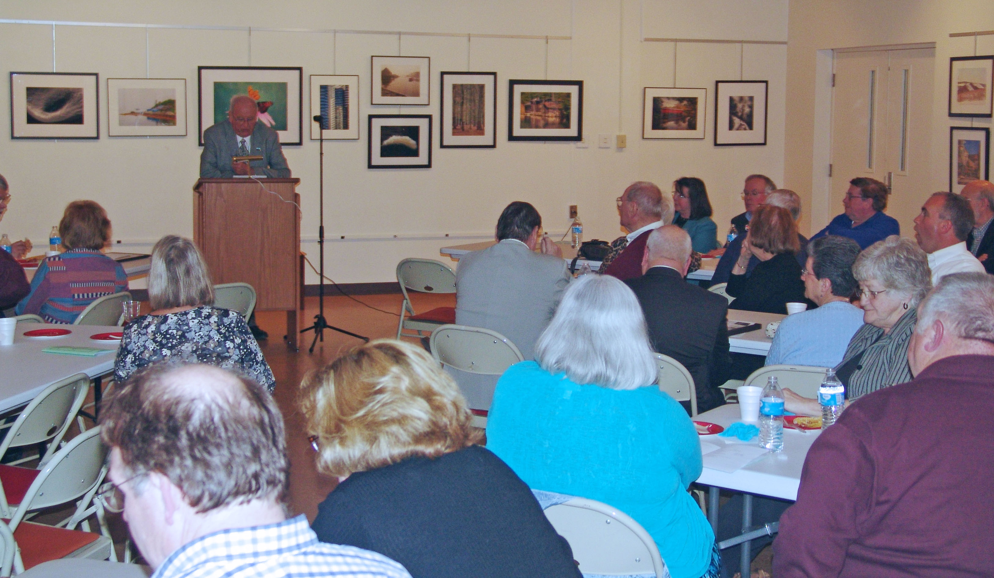 "William E. Nichols, Sr. speaking on ""The History of Our Valley and the Williamsport Municipal Water Authority"""