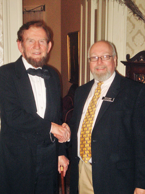 Gary Parks, Museum Director of the Taber Museum, will be greeting President Abraham Lincoln at the Museum, Saturday, July 21.
