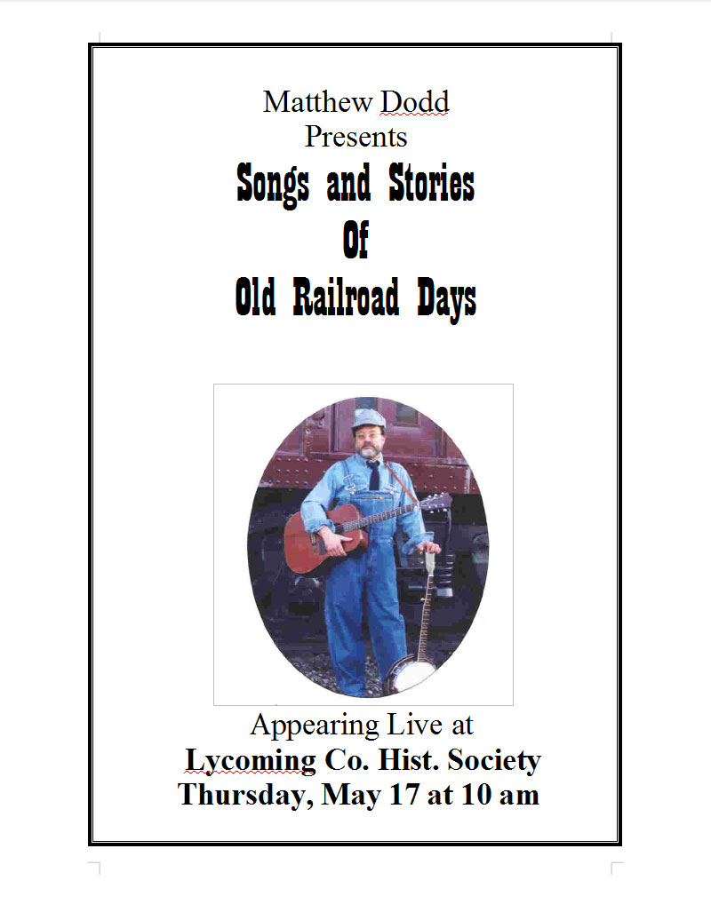 Matthew Dodd, 'Songs And Stories Of Old Railroad Days'