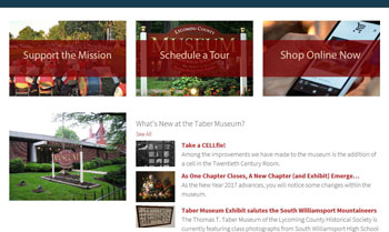 Taber Museum home page