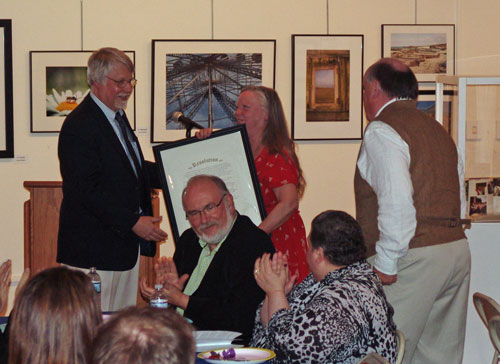 "Martha and Steve Huddy received an ""Award for Exceptional Service"" to the Society"