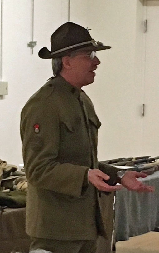 Mike Munford - 'World War I Doughboy' - Speaks at Coffee Hour